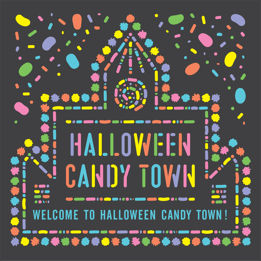 HALLOWEEN CANDY TOWN